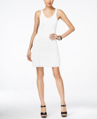 MICHAEL Michael Kors Sleeveless Pleated Sweater Dress