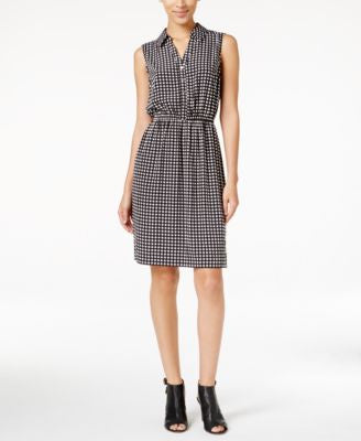 Alfani Check-Print Shirtdress, Only at Vogily