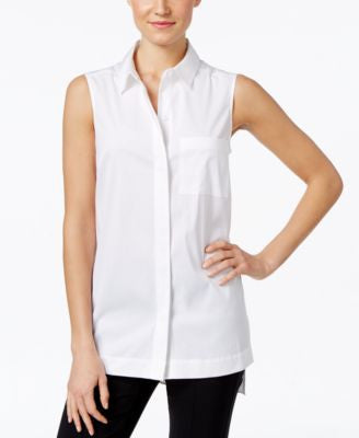 Alfani Sleeveless Shirt, Only at Vogily