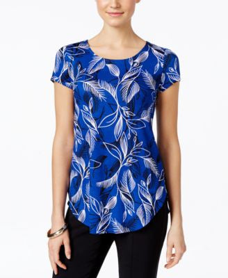 Alfani Printed Short-Sleeve Top, Only at Vogily