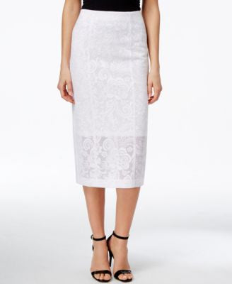 Alfani PRIMA Lace Pencil Skirt, Only at Vogily