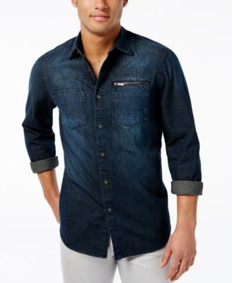 Sean John Men's Vintage-Wash Shirt