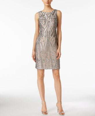Calvin Klein Sleeveless Sequined Dress