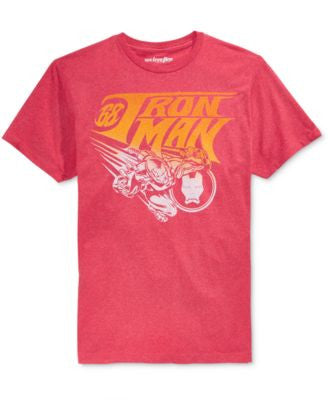 Mighty Fine Men's Iron Man Vintage Fly Graphic-Print T-Shirt