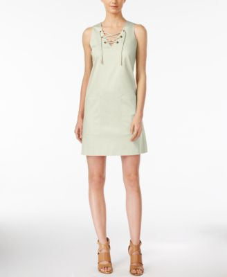 Calvin Klein Petite Lace-Up Shift Dress
