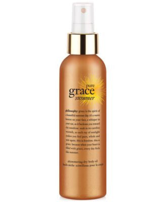 philosophy pure grace summer body oil