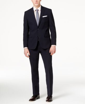 Kenneth Cole New York Men's Navy Slim-Fit Performance Suit