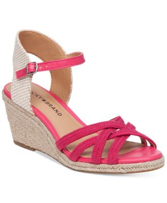 Lucky Brand Women's Kalley Cross Band Wedge Sandals