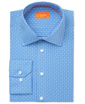 Tallia Men's Fitted Micro-Check Dobby Dress Shirt