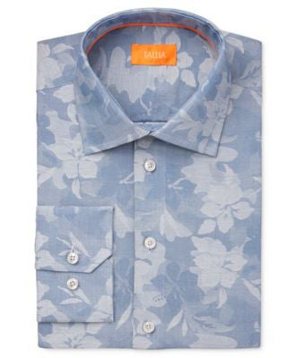 Tallia Men's Fitted Jacquard Dress Shirt
