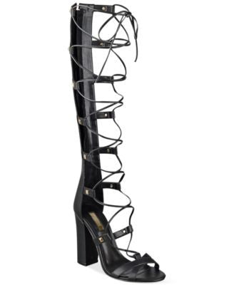 GUESS Women's Annalie Block-Heel Gladiator Sandals