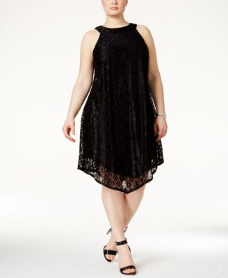 Trixxi Plus Size Crochet Shift Dress