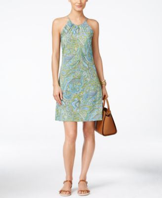 MICHAEL Michael Kors Petite Paisley Halter Shift Dress