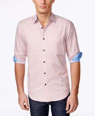Tasso Elba Men's Patterned Long-Sleeve Shirt, Only at Vogily