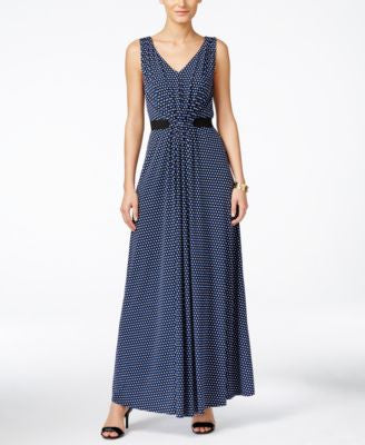 MICHAEL Michael Kors Petite Smocked-Front Maxi Dress