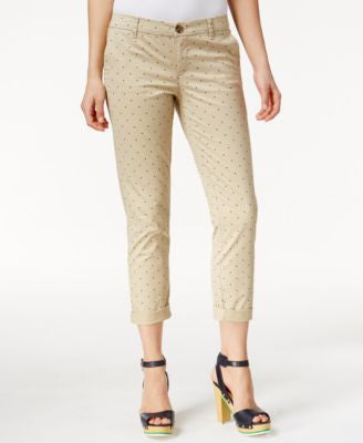 Tommy Hilfiger Dot-Print Cropped Pants