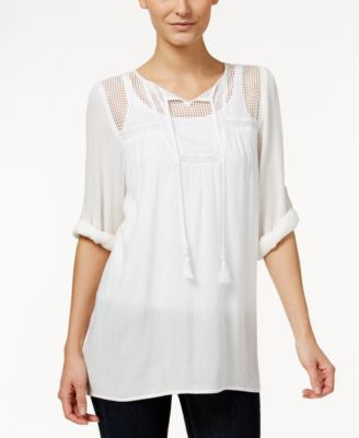Kut from the Kloth Split-Neck Peasant Tunic