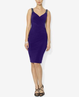 Lauren Ralph Lauren Beaded-Strap Jersey Dress