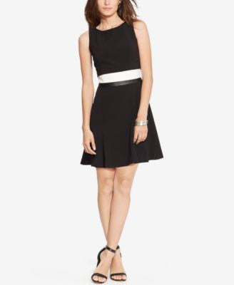 Lauren Ralph Lauren Petite Colorblocked Popover Dress