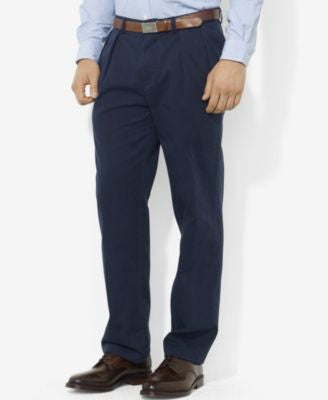 Polo Ralph Lauren Men's Big & Tall Classic-Fit Pleated Chino Pants