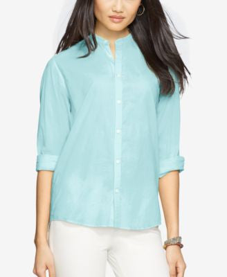 Lauren Ralph Lauren Band-Collar Shirt