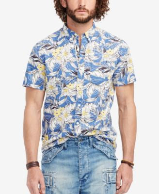 Denim & Supply Ralph Lauren Men's Floral-Print Poplin Sport Shirt