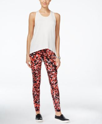 MICHAEL Michael Kors T-Back Active Tank Top & Printed Leggings