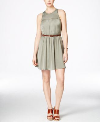 GUESS Brenda Belted Fit & Flare Dress