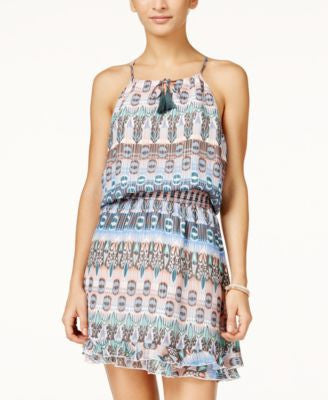 Jessica Simpson Windsor Printed Smocked-Waist Dress