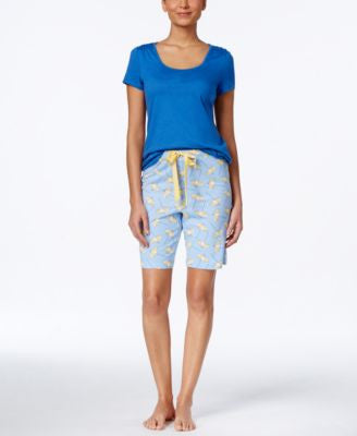 Nautica Short-Sleeve Tee & Bermuda Shorts Sleep Separates
