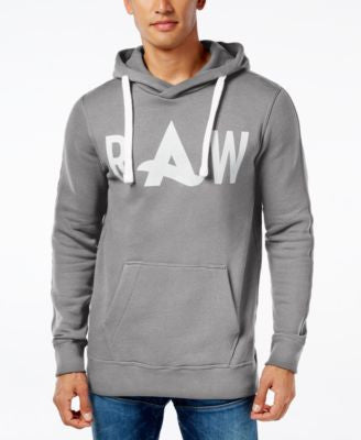 GStar Men's Raw A Graphic-Print Logo Hoodie