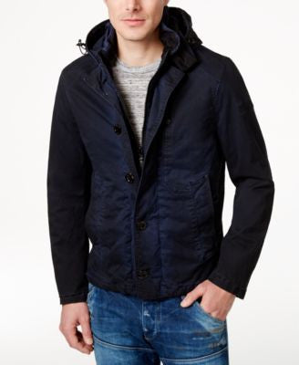 GStar Men's Over-Dye Hooded Jacket