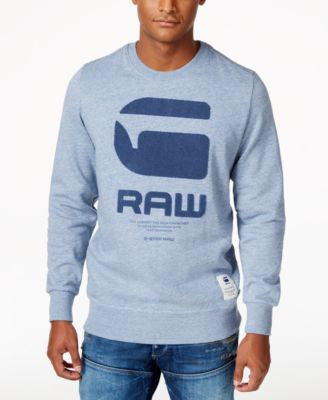 GStar Men's Raw Large Appliqué Logo Sweatshirt