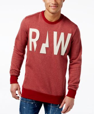 GStar Men's Raw Two-Tone Appliqué Logo Sweatshirt