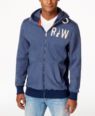 GStar Men's Raw Full-Zip Funnel Hoodie