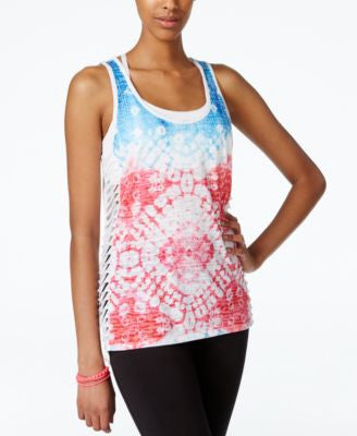 Material Girl Active Juniors' Graphic Tank Top, Only at Vogily