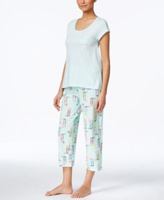 Hue Lace-Trim Top & Capri Pajama Pants Sleep Separates