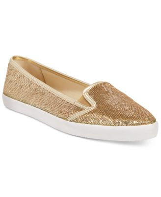 MICHAEL Michael Kors Olive Slip-On Sequin Sneakers