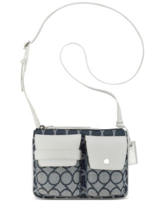 Nine West Signature Jacquard Pop Pocket Small Crossbody