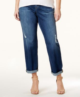 MICHAEL Michael Kors Plus Size Dillon Ripped Antique Wash Boyfriend Jeans