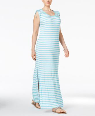 MICHAEL Michael Kors Plus Size Striped Maxi Dress