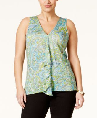 MICHAEL Michael Kors Plus Size Printed Ruffled Top