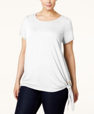MICHAEL Michael Kors Plus Size Side-Tie T-Shirt