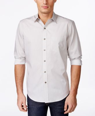 Tasso Elba Men's Diamond Dot Long-Sleeve Shirt, Only at Vogily