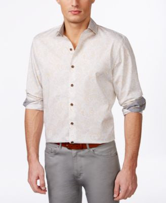 Tasso Elba Men's Pattern Long-Sleeve Shirt, Only at Vogily