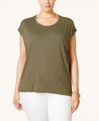 MICHAEL Michael Kors Plus Size Printed High-Low T-Shirt