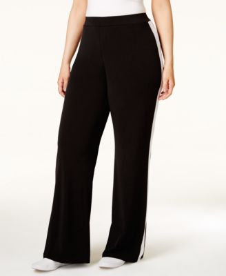 MICHAEL Michael Kors Plus Size Side-Striped Wide-Leg Pants