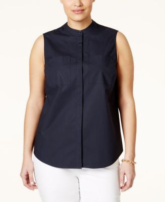 MICHAEL Michael Kors Plus Size Sleeveless Shirt