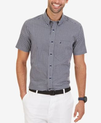 Nautica Men's Wrinkle-Resistant Gingham Short Sleeve Shirt
