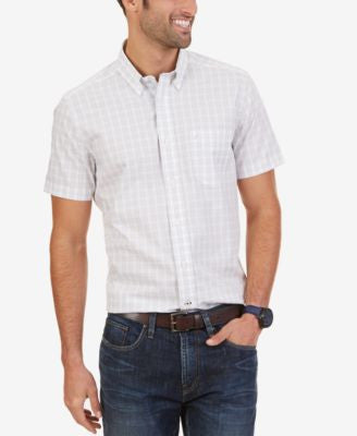 Nautica Men's Wrinkle-Resistant Gingham Short Sleeve